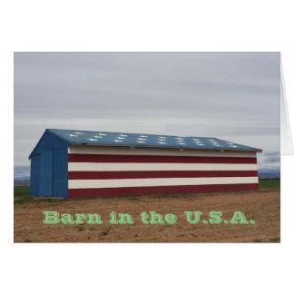 Scheune im USA-Geburtstags-Gruß Karte