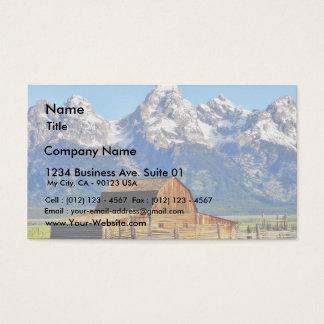 Scheunen großartige Tetons Berge Visitenkarte