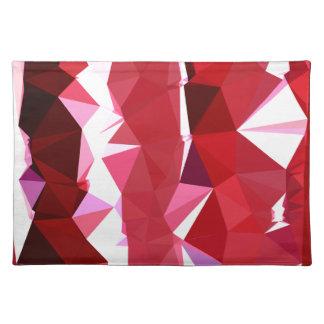 Scheunen-roter abstrakter niedriger stofftischset