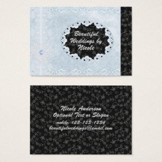 Schicke blaue u. schwarze visitenkarte