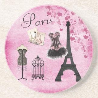 Schicke Eiffelturm-Rosa-Paris-Mode Getränkeuntersetzer