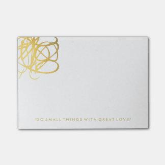 Schicke Goldeffekt-Post-Itanmerkungen Post-it Klebezettel