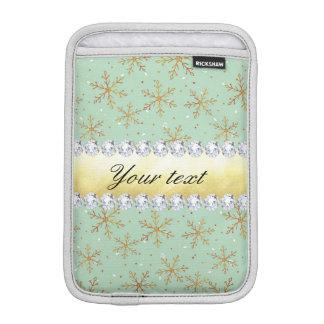 Schicke Goldschneeflocken und -diamanten erblassen Sleeve Für iPad Mini