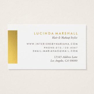 Schicke grafische Golddesigner-Visitenkarten III Visitenkarte