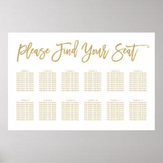 Schicke Handmit buchstaben gekennzeichnetes Poster