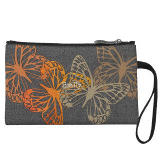 Schicke helle Schmetterlings-graue Kleine Clutch
