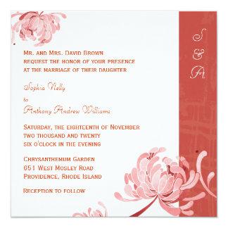 Schicke Land-Mama-modische botanische Hochzeit Quadratische 13,3 Cm Einladungskarte