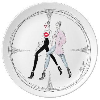 Schicke Porzellanplatte - perfektes Geschenk für Teller