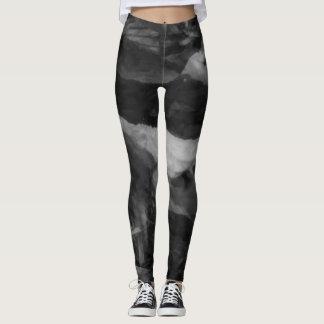 Schicke schwarze graue Gamaschen Leggings