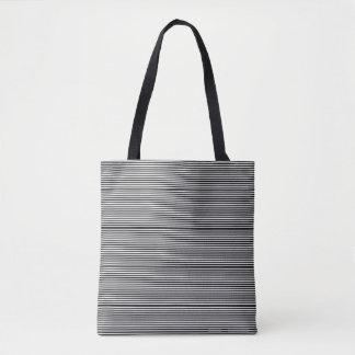 schicke Schwarzweiss-Streifen Tasche