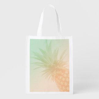 Schicke tropische Ananas Wiederverwendbare Einkaufstasche
