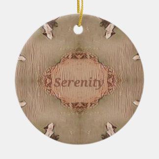 Schicker helles TAN-Pfirsich-moderne Ruhe Keramik Ornament