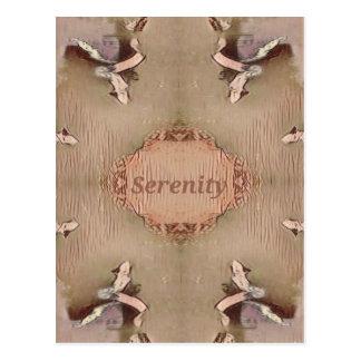 Schicker helles TAN-Pfirsich-moderne Ruhe Postkarte