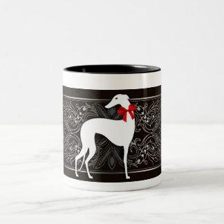 Schicker Windhund Zweifarbige Tasse