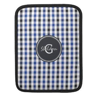 schickes adrettes Ginghammustermonogramm des Sleeves Für iPads