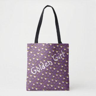 Schickes Gold punktiert lila Tasche für Strand Tasche