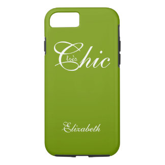 "SCHICKES iPhone 7 CASE_ "" tresChic"" 66 GREEN/WHITE iPhone 8/7 Hülle"