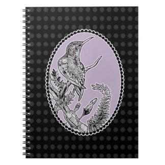 Schickes Kolibri-Notizbuch (80 Seiten B Notizblock