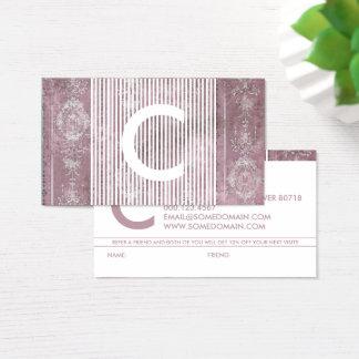 schickes Monogrammempfehlungsprogramm Visitenkarten