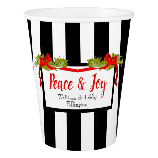 SCHICKES PAPIER CUP_ CHRISTMAS_STRIPES PAPPBECHER