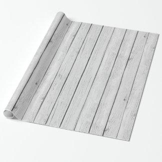 Schickes weißes rustikales Holz Geschenkpapier