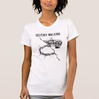 Schicksals-gehender kundenspezifischer weißer T - T-Shirt