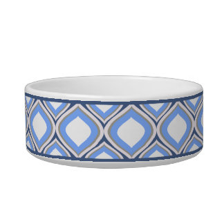 Schiefer blaue Ogee kleine Keramik-Hundeschüssel Napf