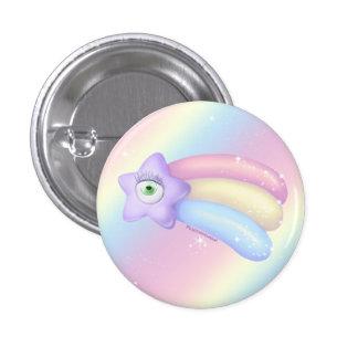 Schießen-Augen-Stern Runder Button 3,2 Cm