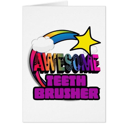 Schießen-Stern-Regenbogen-fantastische Zähne Grußkarte