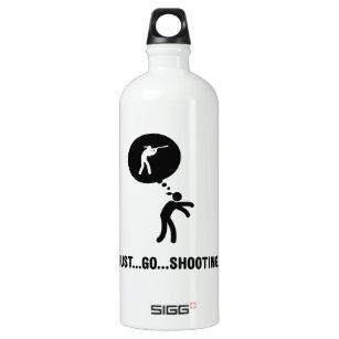 Schießen Wasserflasche