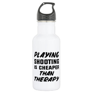 Schießen zu spielen ist billiger als Therapie Trinkflasche
