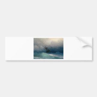 Schiff auf stürmischen Meeren, Iwan Aivazovsky Autoaufkleber