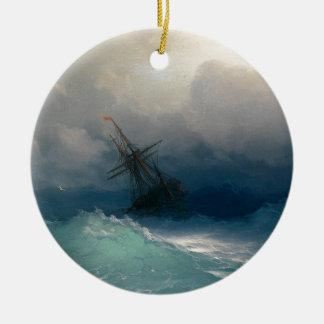 Schiff auf stürmischen Meeren, Iwan Aivazovsky - Keramik Ornament