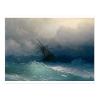 Schiff auf stürmischen Meeren, Iwan Aivazovsky Postkarte