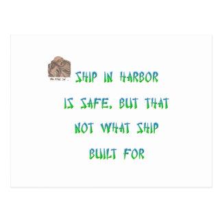 Schiff im Hafen ist sicher, aber dieses nicht, Postkarte