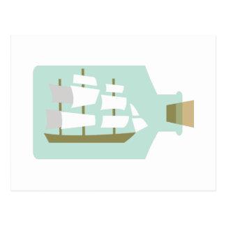 Schiff in der Flasche Postkarte