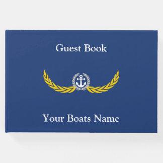 Schiff, Yacht oder Motorboote segelnd Gästebuch