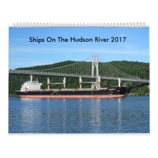 Schiffe auf dem Hudson 2017 Wandkalender