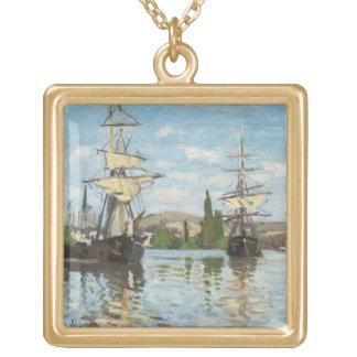 Schiffe Claude Monets |, die auf die Seine in Vergoldete Kette
