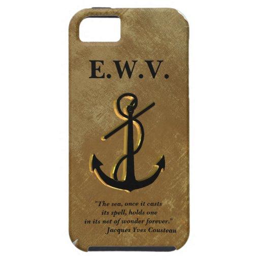 Schiffe verankern auf Pergament Iphone 5 Fall iPhone 5 Etui