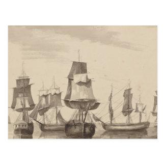 Schiffe vom 26. Juni 1776 Postkarte
