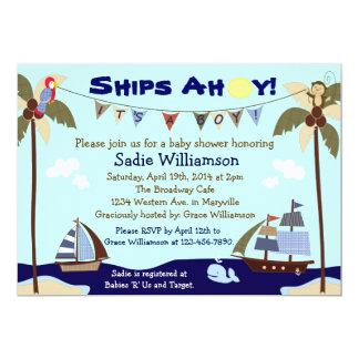 Schiffs-ahoi SeeBabyparty-Einladung Karte