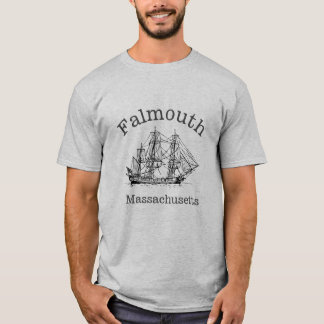 Schiffs-Boots-T - Shirt Falmouths Massachusetts