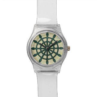 Schiffs-Helm drehen herein aquamarine hölzerne Armbanduhr