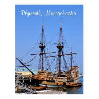 Schiffs-Postkarte Plymouths Massachusetts Postkarte