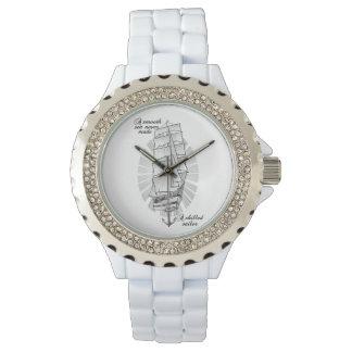 Schiffschooner-Zitat Armbanduhr