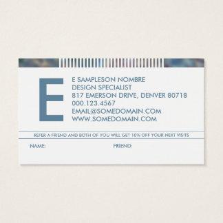 schikanierte Monogrammempfehlung Visitenkarten