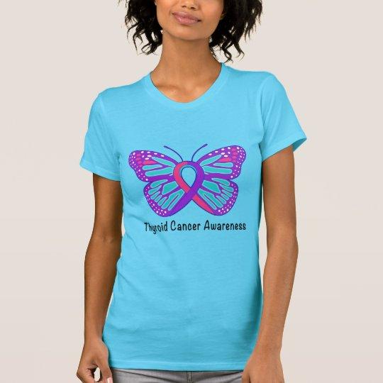 Schilddrüsenkrebs-Bewusstseins-Band T-Shirt