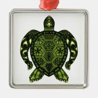 Schildkröte 2b silbernes ornament