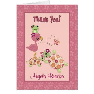 SCHILDKRÖTE Babyparty danken Ihnen, (FALTEND) OUP Karte